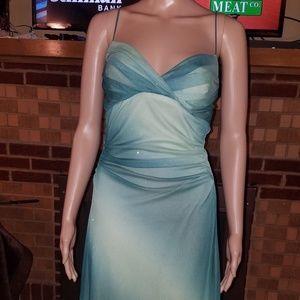 Size Medium, Trixxi brand, green sparkle dress.